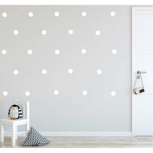 BugyBagy Beyaz Yuvarlak Duvar Sticker Polska Dots Büyük 200 Adet 5 cm.