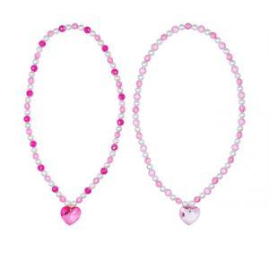 Pink Poppy Kalp Kolye