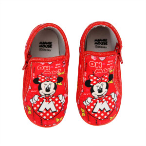 Minnie Mouse Fermuarlı Panduf 21-25