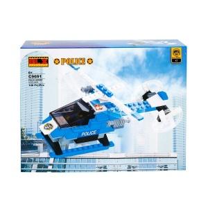 Yapım Seti : Polis Araç Uçak Set C9691