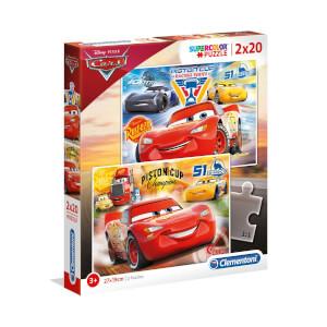 2 x 20 Parça Puzzle : Cars 3