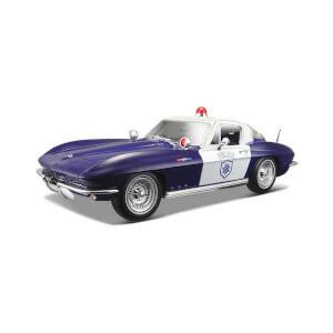 1:18 Maisto Chevrolet Corvette Police 1965 Model Araba