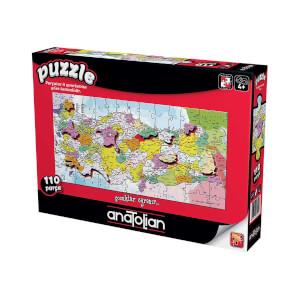 110 Parça Puzzle : Türkiye İller Haritası