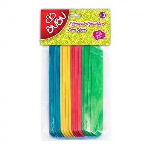 BuBu Renkli Eğlenceli Uzun Çubuklar 40'lı