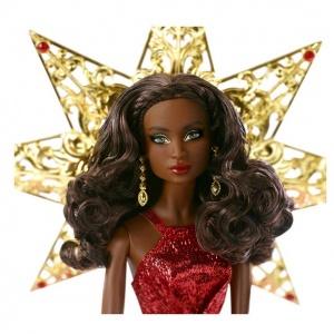 Mutlu Yıllar 2017 Barbie - Esmer Kırmızı Elbiseli DYX40 (Stok Kayıp)