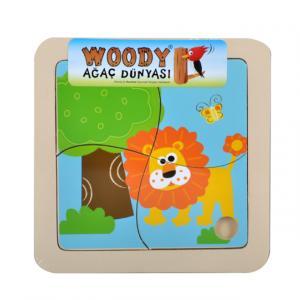 Ahşap Puzzle Orman Hayvanları