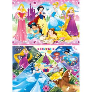 2x20 Parça Puzzle : Disney Princess