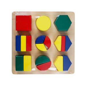 Woody Ahşap Bultak Parçalı Geometrik Şekiller