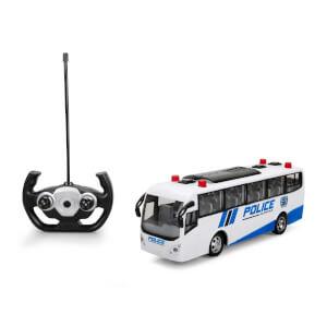 Uzaktan Kumandalı Işıklı Polis Otobüsü 30 cm.