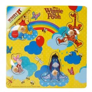 Woody Winnie The Pooh Ahşap Raptiyeli Bultak 4 Parça