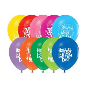 Happy Bırthday Baskılı Balon 16'lı
