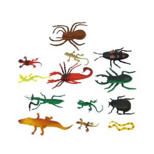 Sürüngenler ve Böcekler Poşetli Hayvan Oyun Seti