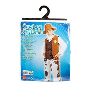 Kovboy Şapkalı Erkek Kostüm M Beden
