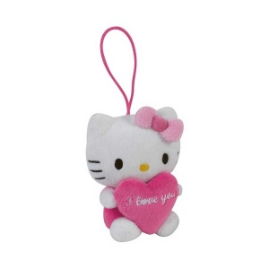 Hello Kitty Mini Kalpli Peluş 9 cm.