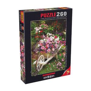 260 Parça Puzzle : Bahçe Çiçekleri