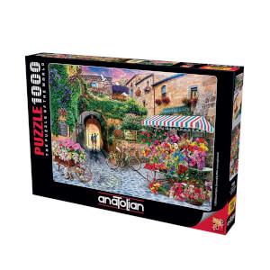 1000 Parça Puzzle : Çiçek Pazarı
