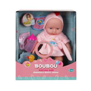 BouBou Bornozlu Sesli Bebek 26 cm.