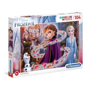 104 Parça Puzzle : Glitter Effect Frozen 2