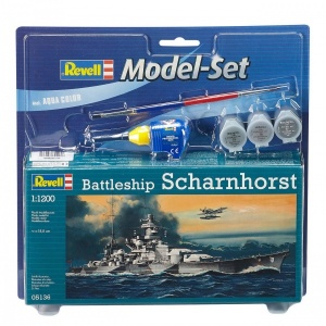 Revell 1:1200 Scharnhorst Model Set Gemi