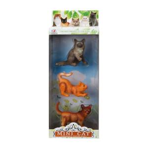 3'lü Mini Retrievers Kedi ve Köpek Figürleri