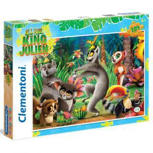 104 Parça Puzzle : All Hall King Julien: King Julien