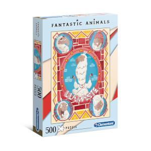 500 Parça Puzzle : Fantastic Animals Llamaste