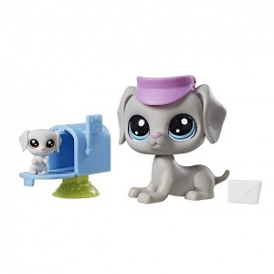 Littlest Pet Shop Miniş ve Yavrusu (Bill-Bertie Weimaran)