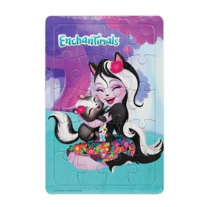 20 Parça Puzzle : Enchantimals Sage Skunk
