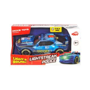 Lightstreak Polis Sesli ve Işıklı Yarış Araba 20 cm.
