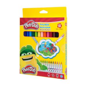 Play Doh Fırça Uçlu Keçeli Kalem 12 Renk