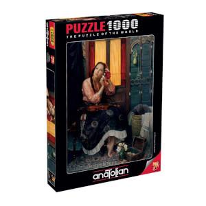 1000 Parça Puzzle : Kızıl Kadın