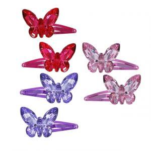 Pink Poppy Kelebekli Toka