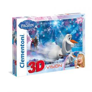 104 Parça 3D Puzzle : Frozen