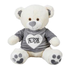 Oturan Love Tişörtlü Peluş Ayı 50 cm.