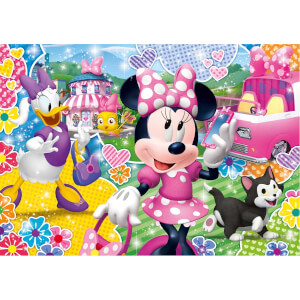 104 Parça Puzzle : Glitter Minnie Happy Helpers