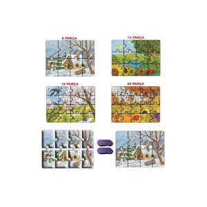 4'lü Puzzle Mevsimler