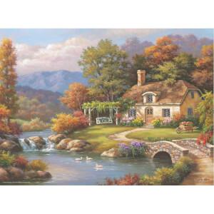 1000 Parça Puzzle : Kır Evi