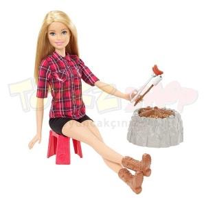 Kampa Giden Barbie  (Pembe)