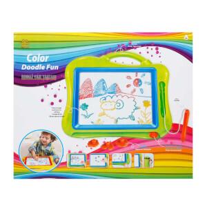 Doodle Aksesuarlı Renkli Yazı Tahtası
