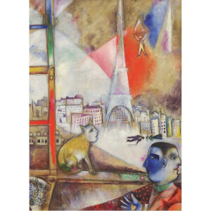 1000 Parça Puzzle : Paris Through The Window - Marc Chagall
