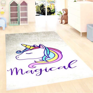 Firstmoon Unicorn Magic Çocuk Halısı Gri 120 x 180 cm.