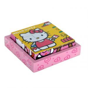 Hello Kitty Boyacı Ahşap Küp Puzzle