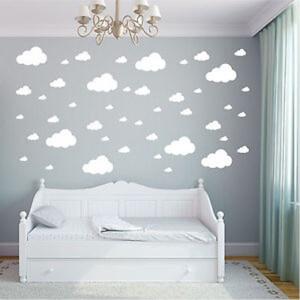 BugyBagy Beyaz Duvar Sticker Karışık Bulutlar 74 Adet