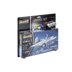 Revell 1:144 Embraer 190 Model Set Uçak 63937
