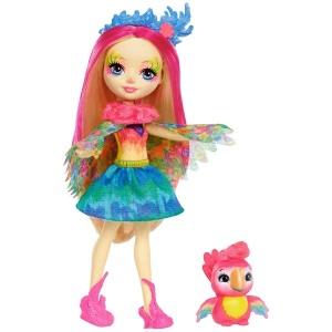 Enchantimals Popüler Karakter Bebekler FNH22 (Peeki Parrot & Sheeny)