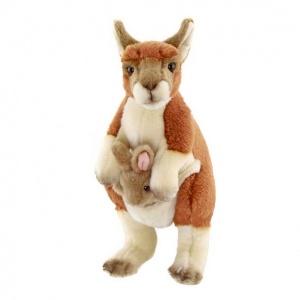 Ayakta Yavrulu Kanguru Peluş 28 cm.