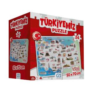 24 Parça Puzzle : Türkiyemiz
