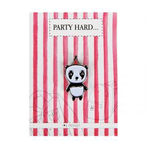 Panda Desenli Metal Yaka İğnesi