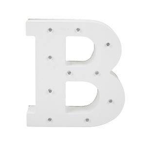 Dekoratif Ahşap Işıklı B Harfi 15 cm.