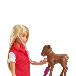 Barbie Çiftlikte Veteriner Oyun Seti